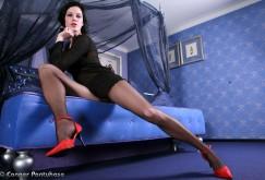 Melenas roten Schuhe