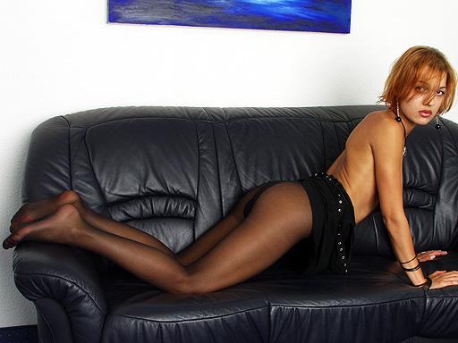 Anastasia Teenager in black Pantyhose