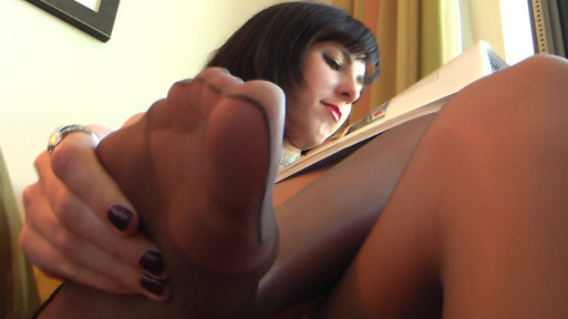 Nadja POV foot massage in pantyhose