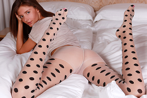 Anna K. in dotted pantyhose